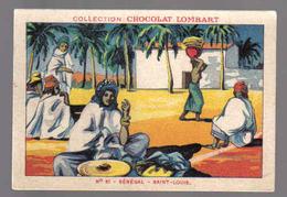 B887 - IMAGE CHOCOLAT LOMBART - SENEGAL SAINT LOUIS - Chocolat