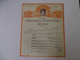 Lettre A En Tete Ancienne Parfumerie Grasse - Perfumería & Droguería