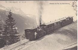 74 CHAMONIX MONT BLANC TRAIN A CREMAILLERE DU MONTENVERS GLACIER DE LA MER DE GLACE UN DES PREMIERS VOYAGES EDI TAIRRAZ - Chamonix-Mont-Blanc