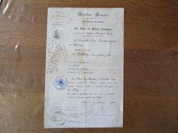 ADMINISTRATION DES DOUANES AU NOM DU PEUPLE FRANCAIS  M. DEBEY HENRI EST NOMME LIEUTENANT LE 1er JANVIER 1910 LE CONSEIL - Documents Historiques