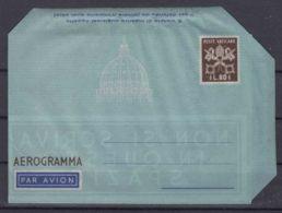 Vatican Aerogramme, Aerogramma 80 Lire Scott#LF4 Value 40 Eur - Postal Stationeries