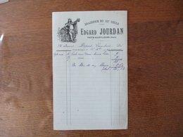 TRITH-SAINT-LEGER NORD EDGARD JOURDAN BRASSERIE DU XXe SIECLE FACTURE DU 26 Xbre 1919 - France