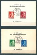 Generalgouvernement - 5 Karten Jahrestag 1941, Radom, Lemberg, Krakau, Lublin Und Warschau - Occupation 1938-45