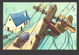 Illustrateur / Illustrator J. Mazelle - Humor - Soldat / Militaire - 1969 - Illustrateurs & Photographes