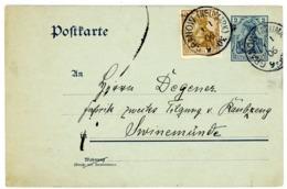 """P 57 Mit Zusatzfrankatur 1905 Aus """"GRANOW NEUMARK"""" - Ganzsachen"""