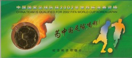 China 2001 China Team Is Qualified For 2002 FIFA WORLD CUP Korea/Japan POSTAL CARDS 35V - 1949 - ... Repubblica Popolare