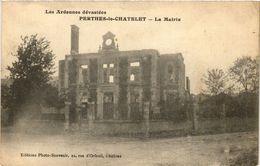 CPA Les Ardennes Dévastées - Perthes-le-Chatelet - La Mairie (350695) - Francia