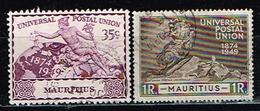 ILE MAURICE/MAURITIUS / Oblitérés/Used/ 1949 - 75éme Anniversaire De L'UPU - Mauricio (...-1967)