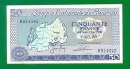 Rwanda 50 Francs 1969 P7a XF - Ruanda