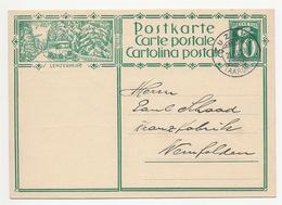 """Schweiz Suisse 1929: Bild-PK CPI """"LENZERHEIDE"""" Mit Stempel """"ZUZGEN 22.III.29 (AARGAU)"""" > Nach Weinfelden TG - Bussen"""