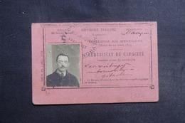 FRANCE - Vieux Papiers - Certificat De Capacité Pour Conduire Un Motocycle à 2 Roues  En 1930 - L 42012 - Collezioni