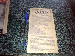 Depliant Touristique  Année 1960 CARNAC/ PLOUHARNEL Avec Plans Et Publicités - Tourism Brochures