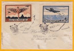 1921 - Envel. Par Avion Précurseur De Poznan, Pologne Vers Vienne, Autriche  Avec Timbres Semi-officiels AeroTarg - Flugzeuge