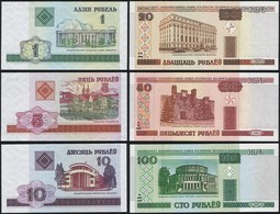 Belarus SET - 1 5 10 20 50 100 Rublei 2000 - UNC - Belarus