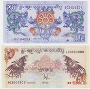 Bhutan SET - 1 & 5 Ngultrum 2006 - UNC - Bhutan