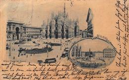 MILANO ITALY~PIAZZA Del DUOMO & HOTEL METROPOLE~1909 PSMK POSTCARD 41513 - Milano (Milan)