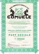 """Action Uncirculed - Sté Commerciale Et Minière De L' Uele """"COMUELE"""" - Titre De 1957 - Afrika"""