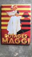 Plaque émaillée Publicitaire - MAGGI - Potages - Targhe In Lamiera (a Partire Dal 1961)