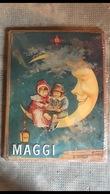 Grande Plaque émaillée Publicitaire - MAGGI - Lune - Targhe In Lamiera (a Partire Dal 1961)