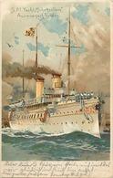 Themes Div-ref CC804- Bateaux - Marine De Guerre - Marine Allemande - Allemagne -sm Yacht Hohenzollern - - Barcos
