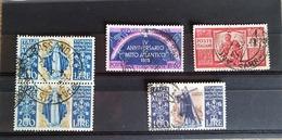 ITALIA REPUBBLICA PICCOLO LOTTO CON S.CATERINA P.AEREA SERIE USATA - 6. 1946-.. Repubblica