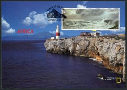 GIBRALTAR (2018). Carte Maximum Card - Europa Point, Trinity Lighthouse, Leuchtturm, Faro - Views Of The Rock - Gibraltar