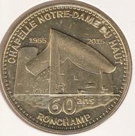 MONNAIE DE ¨PARIS 70 RONCHAMP La Porterie - Chapelle Notre-Dame Du Haut - 60 Ans - 2015 - Monnaie De Paris