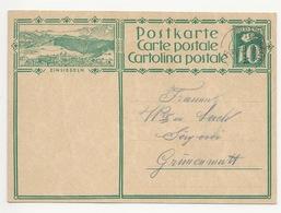 """Schweiz Suisse 1929: Bild-PK CPI """"EINSIEDELN""""  Mit Stempel SUMISWALD 29.IV.29 Nach Gümmenen - Interi Postali"""