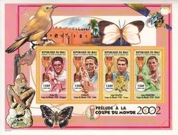 2000 Mali World Cup Football 1930-1950 Schiaffino Schiavio Italy Brazil France  Miniature Sheet Of 4   MNH - Mali (1959-...)