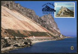 GIBRALTAR (2018). Carte Maximum Card - Sandy Bay, Water Catchments - Views Of The Rock - Gibraltar