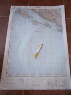 1956 DUBROVNIK CROATIA ADRIATIC SEA JNA YUGOSLAVIA ARMY MAP MILITARY CHART PLAN Lopud šipan KOLOČEP OSIJNIK Orašac - Topographische Kaarten