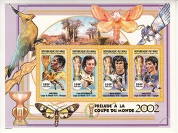 2000 Mali World Cup Football 1970-1982 Mexico Germany Beckenbaur Argentina Spain Rossi  Miniature Sheet Of 4   MNH - Mali (1959-...)