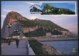 GIBRALTAR (2018). Carte Maximum Card - General View - Views Of The Rock - Gibraltar