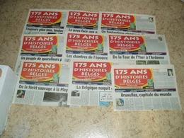 20 Journaux 175 Ans De La Belgique + 1 Document 150 Ans De La Belgique - Journaux - Quotidiens