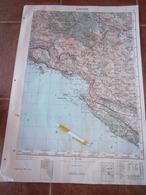 1953 DUBROVNIK CROATIA ADRIATIC SEA JNA YUGOSLAVIA ARMY MAP MILITARY CHART PLAN GOMILJANI PRIDVORCI MOSTAĆI ZASAD MIONIĆ - Topographical Maps