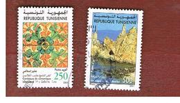 TUNISIA - SG 1471.1472  -    2001  ARCHEOLOGICAL SITES & ARTEFACTS   - USED ° - Tunisia (1956-...)