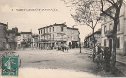 30/ Saint Laurent D'AIGOUZE - La Place De L'Eglise  - Edition Durand N°2 - Sonstige Gemeinden