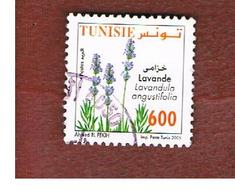 TUNISIA - MI 1635 -    2005 OFFICINAL PLANTS: LAVENDER - USED ° - Tunisia (1956-...)