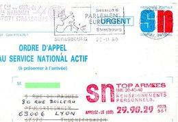 """CP-  """" Ordre D'Appel ,au Service National Actif """"- - Storia Postale"""
