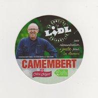 ETIQUETTE DE  CAMEMBERT CHENE D ARGENT LIDL CARTONNEE - Kaas