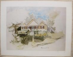 Ile De La Réunion. Francois HENNEQUET 1981 Les Cases -Espace. La Maison La Montagne Au PK 9 N° 12 - Autres Collections