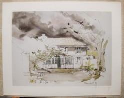 Ile De La Réunion. Francois HENNEQUET 1981 Les Cases -Espace. La Maison Rue Sainte Anne à Saint Denis N° 19 - Autres Collections