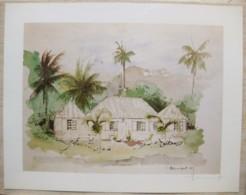 Ile De La Réunion. Francois HENNEQUET 1981 Les Cases -Espace. La Maison à L'Entrée De Saint Leu  N° 11 - Autres Collections