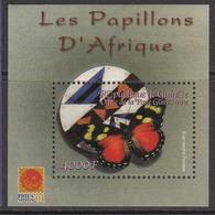 2001 Guinee Guinea Butterflies Papillons Souvenir Sheet *** BARGAIN PRICE **** - Farfalle