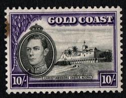 Gold Coast.  1938 -1941 King George VI. 10 Sh. Sc. 141. Cancelled - Goldküste (...-1957)