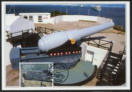 GIBRALTAR (2017). Carte Maximum Card - 100 Top Gun, Napier Of Magdala Battery, Artillery - Military Heritage - Gibraltar