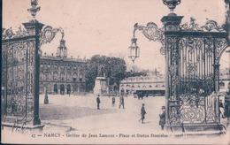 POSTAL FRANCIA - NANCY - GRILLES DE JEAN LAMOUR - PLACE ET STATUE STANISLAS - Nancy