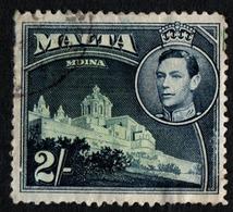 Malta. 1938 King George VI And Local Motifs. 2Sh. Sc. 202. Cancelled - Malte