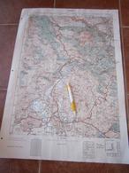 1955 NIKSIC MONTENEGRO CRNA GORA JNA YUGOSLAVIA ARMY MAP MILITARY CHART PLAN LIPOVA RAVAN  KRNJAČA RIBNJAK STRAŠEVINA - Mapas Topográficas