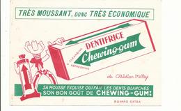BUVARD .publicité DENTIFRICE CHEWING GUM - Parfum & Kosmetik